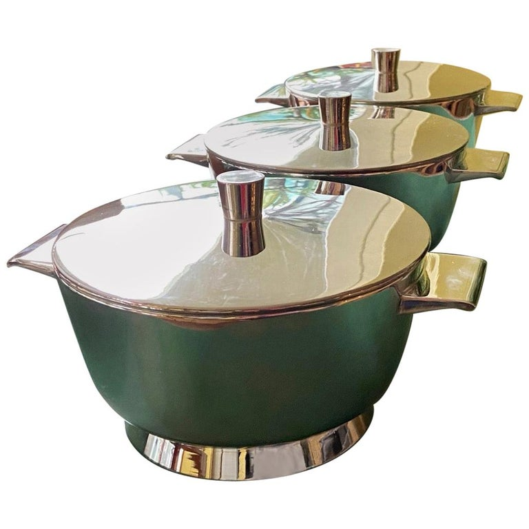 Vintage Gio Ponti Silver Plated Soup Tureens for Krupp, Italian, Midcentury For Sale