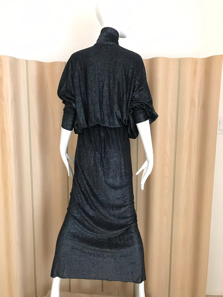 Vintage Giorgio di Sant Angelo Black Knit jersey Dress For Sale 8