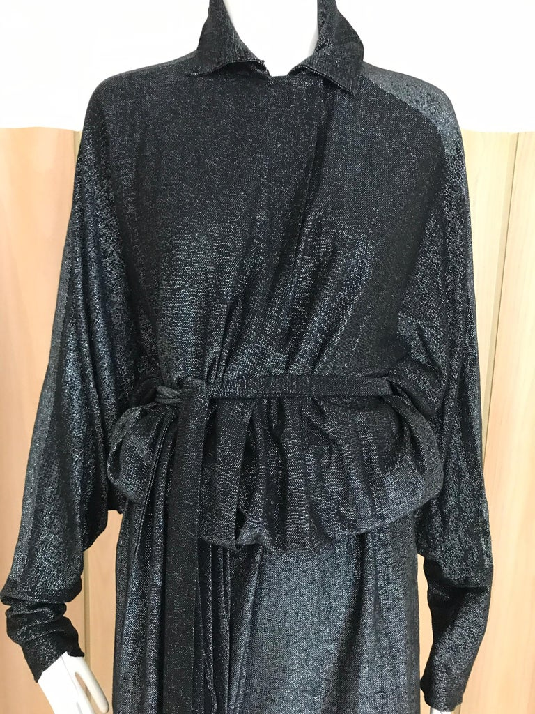 Vintage Giorgio di Sant Angelo Black Knit jersey Dress For Sale 1