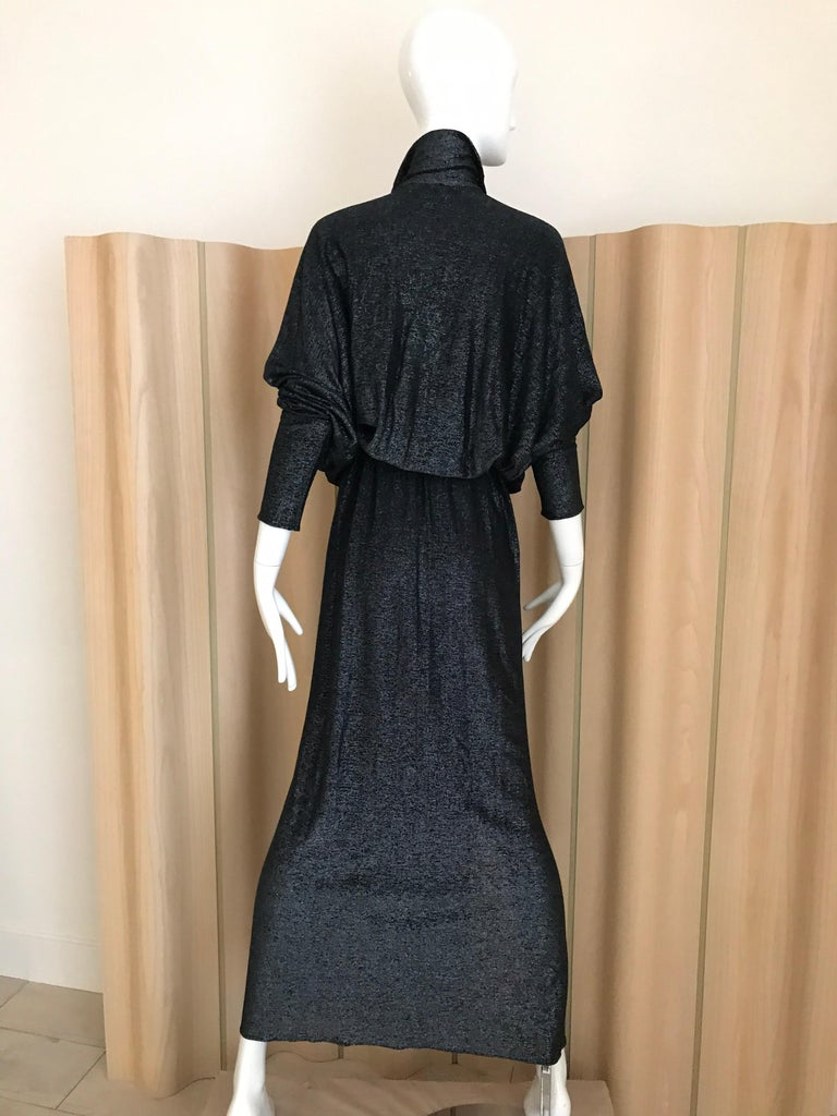 Vintage Giorgio di Sant Angelo Black Knit jersey Dress For Sale 2
