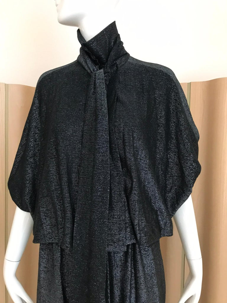 Vintage Giorgio di Sant Angelo Black Knit jersey Dress For Sale 5