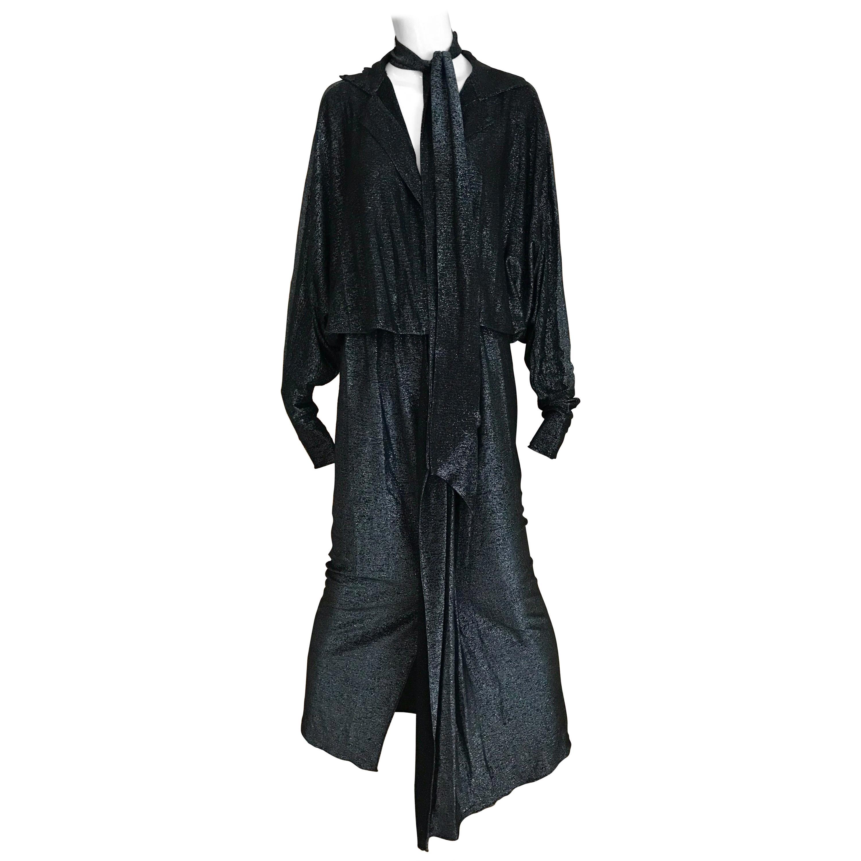 1970s Giorgio di Sant Angelo Black Knit jersey Dress