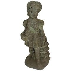 Vintage Girl Garden Statue