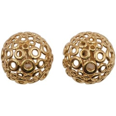 Vintage Givenchy Bubble Clip-on Earrings 1980's