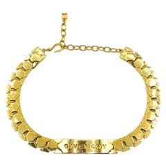 Vintage Givenchy Gold Bar Logo Choker 1990s