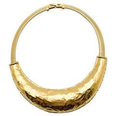 Vintage Givenchy Modernist Gold Torque Collar 1980s