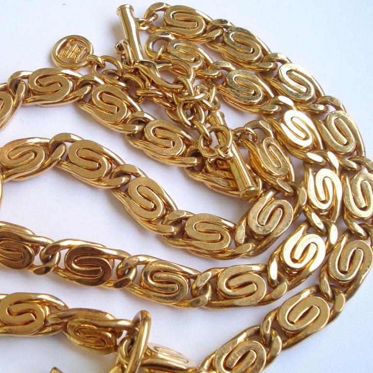 Vintage Givenchy Necklace with Sun Motif Pendant, 1980s For Sale 1