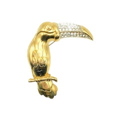 Vintage Givenchy Stylised Toucan Brooch 1980s