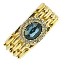 Vintage Givenchy Watch Link Sapphire Crystal Bracelet 1980s