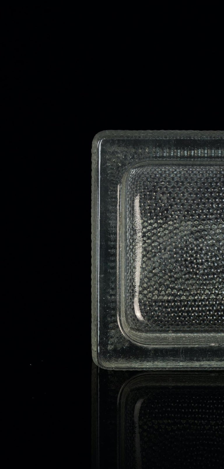 Vintage Glass Ashtray by Saint Gobain, 1950s In Good Condition For Sale In Roma, IT