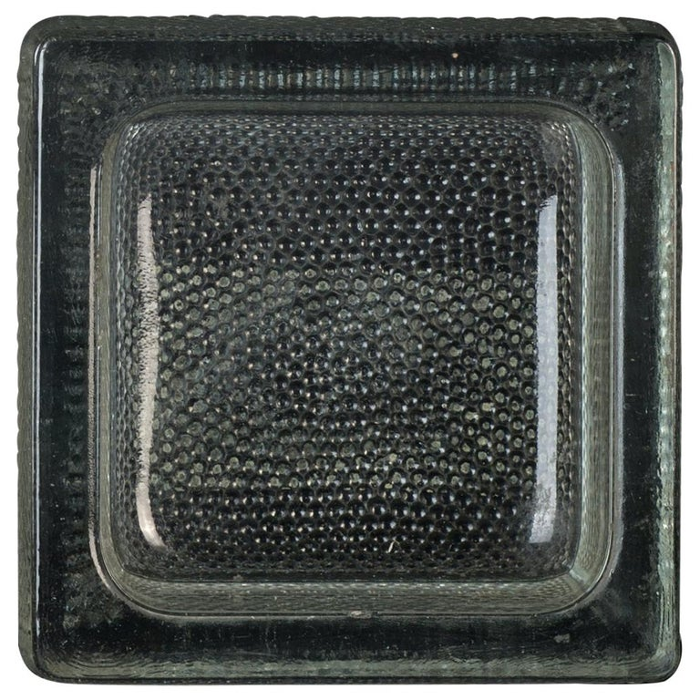 Vintage Glass Ashtray by Saint Gobain, 1950s For Sale