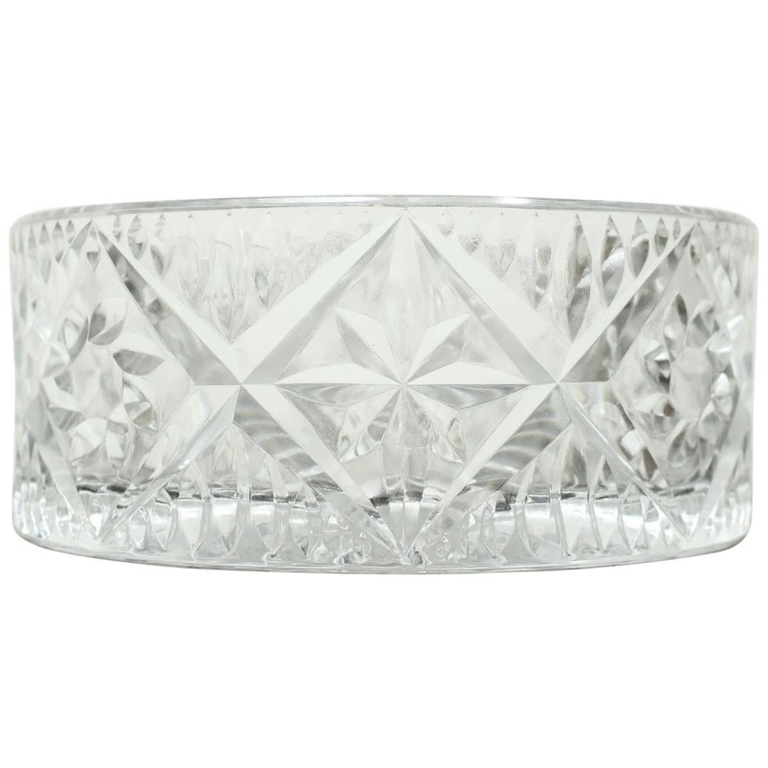 Vintage Glass Bowl by Bohemia Glass, 1970s