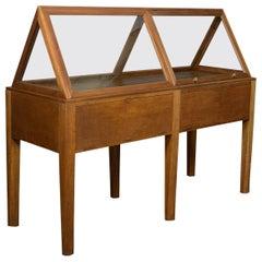 Vintage Glass Display Cabinet, English, Oak, Retail, Shop, Museum, Showcase