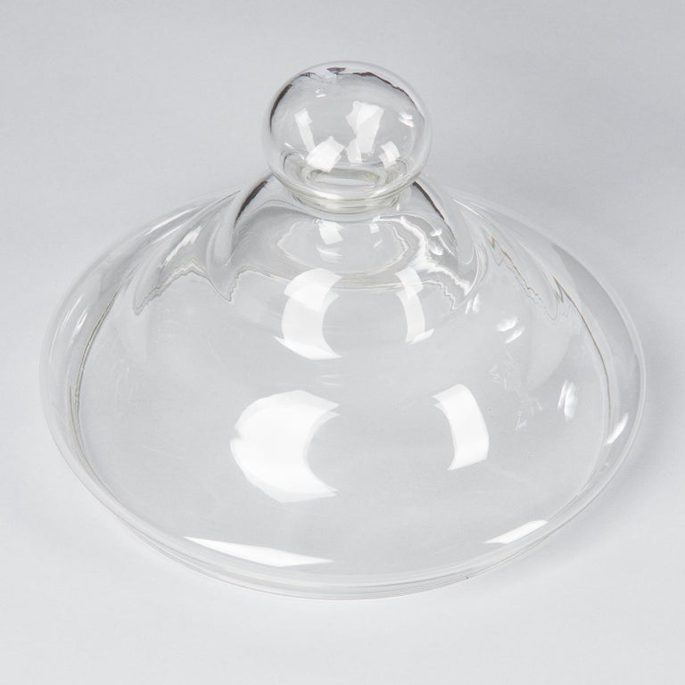 Vintage Glass Lidded Candy Jar, France, Midcentury In Good Condition For Sale In Austin, TX