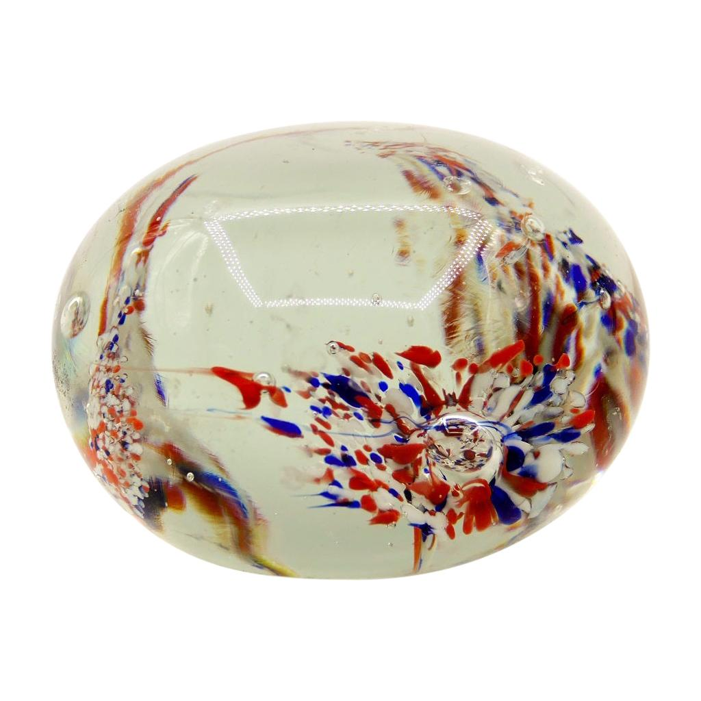 Vintage Glass Paperweight, Northern Europe, 1970s