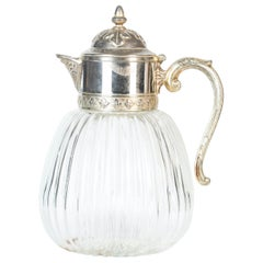 Vintage Glass Pitcher, Italy, 1950s