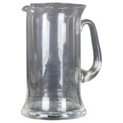 Vintage Glass Pitcher, Italy, 1970s