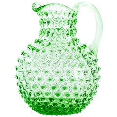 Vintage Glass Pitcher, Italy, Mid-20th Century