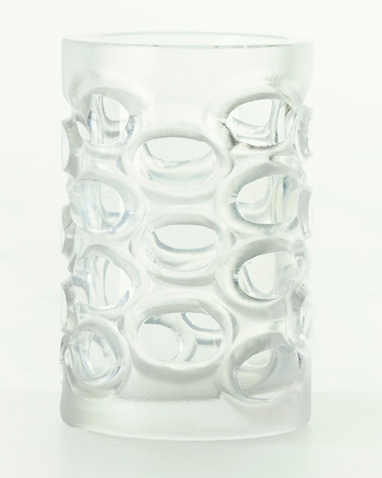 Vintage Glass Vase, 1950s In Good Condition For Sale In Roma, IT
