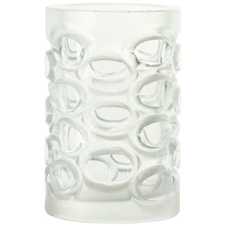 Vintage Glass Vase, 1950s For Sale