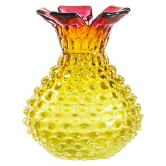 Vintage Glass Vase, Austria, Mid-1900