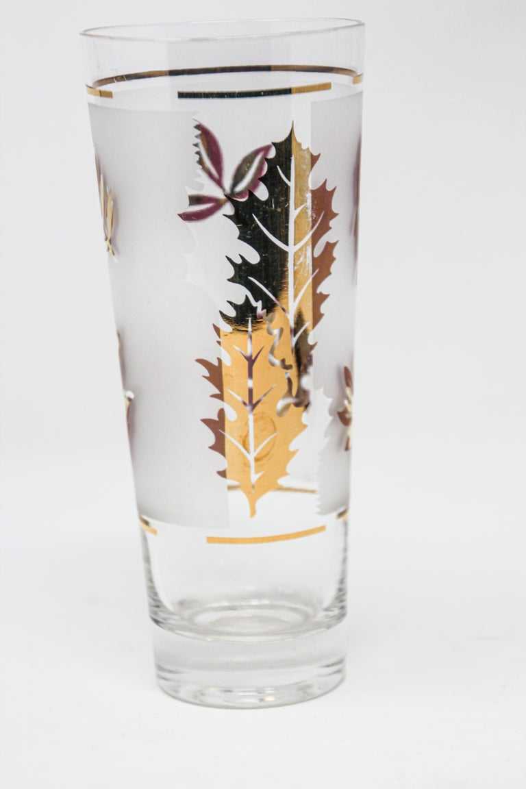 Mid-Century Modern Vintage Glass Vase by Libbey For Sale