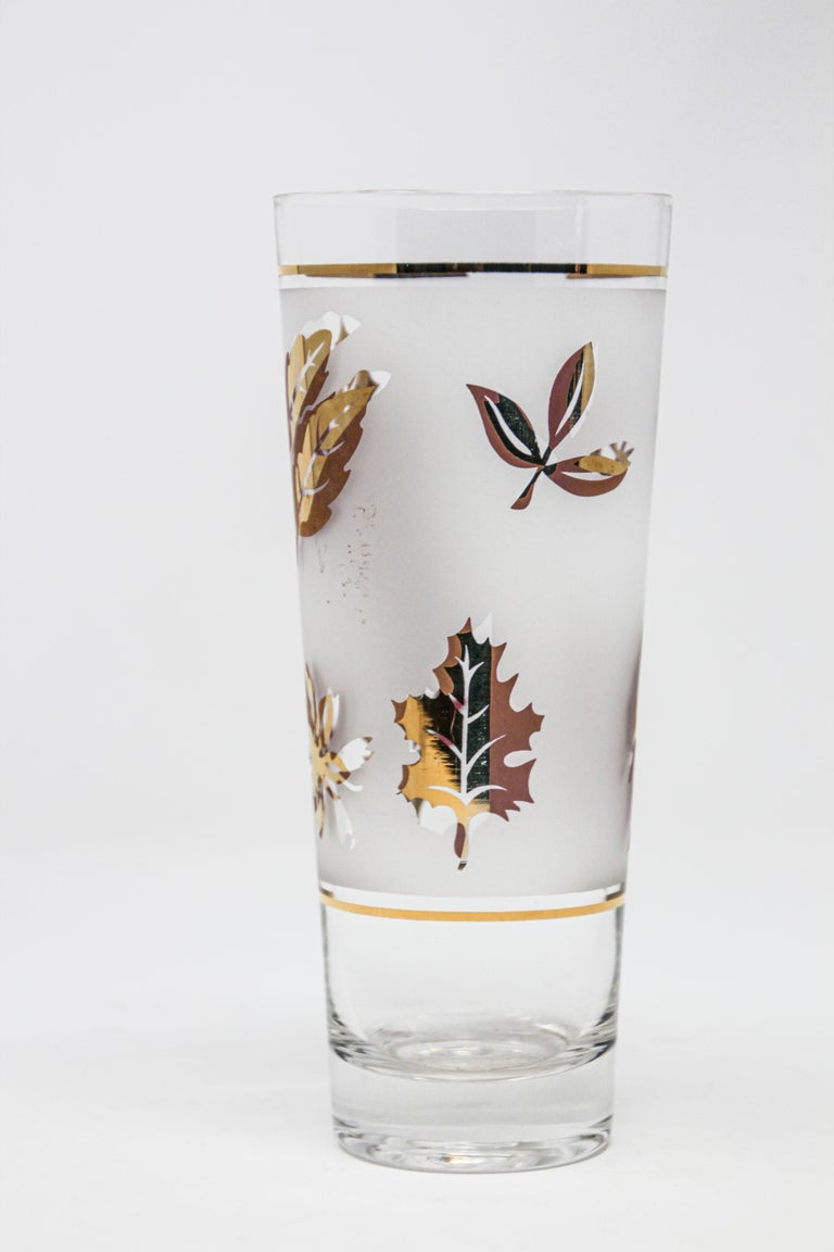 Frosted Vintage Glass Vase by Libbey For Sale