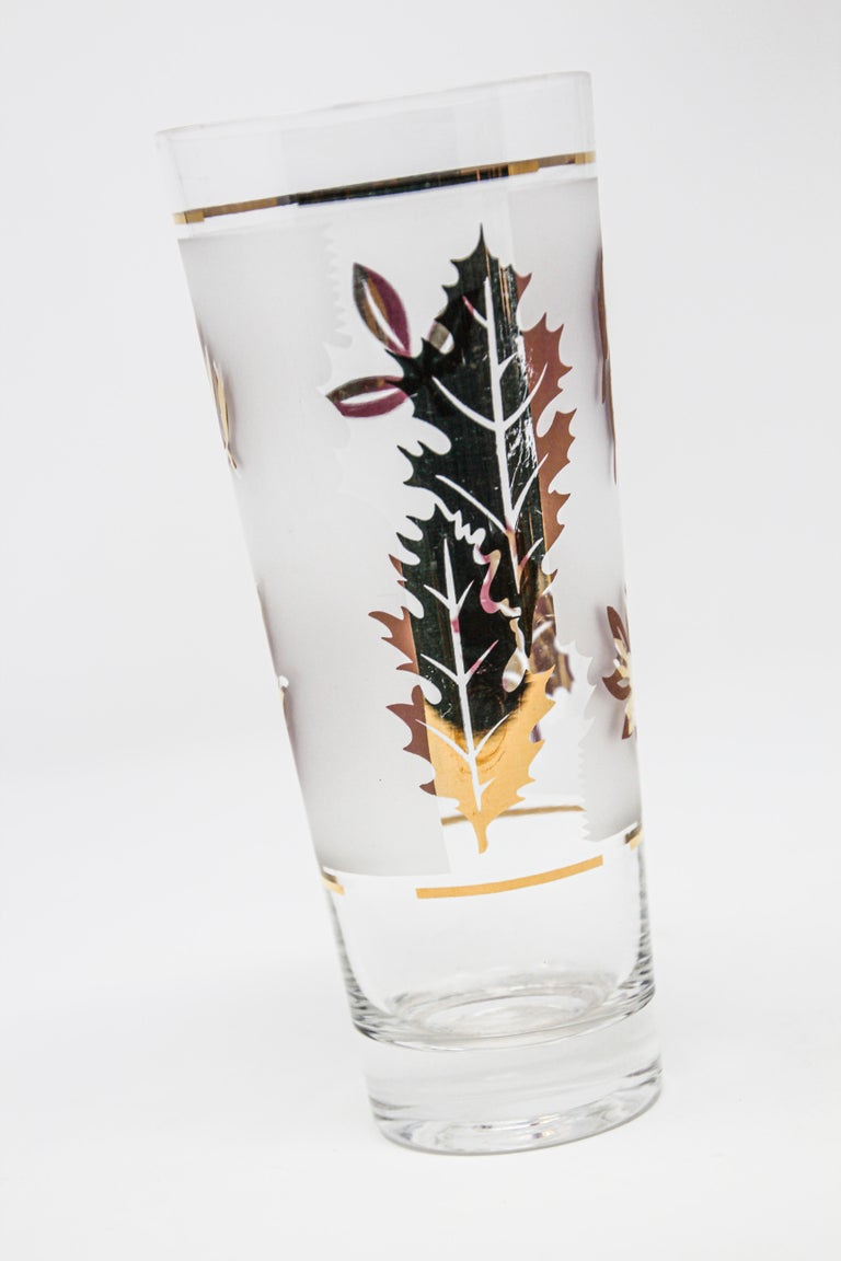 20th Century Vintage Glass Vase by Libbey For Sale