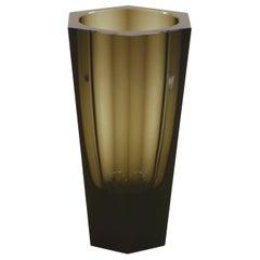 Vintage Glass Vase by Moser, 1970s