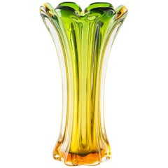Vintage Glass Vase, Northern Europe, 1970