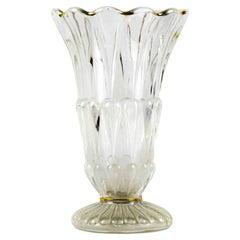 Vintage Glass Vase, Mid-20th Century