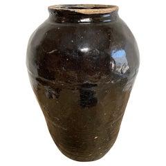 Vintage Glazed Oil Pots