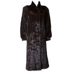 Vintage Glossy Mink Coat