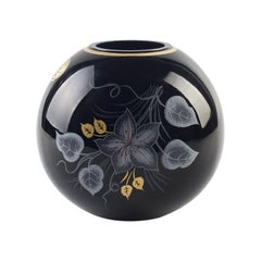 Vintage Glossy Spherical Vase, Northern Europe, Late 20th Century