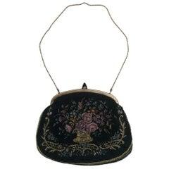 Vintage Gobelin Clutch Handbag, circa 1930