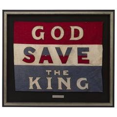 Vintage God Save The King Printed Banner, circa 1930