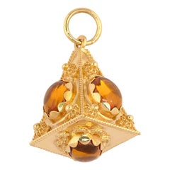 Vintage Gold and Citrine Charm