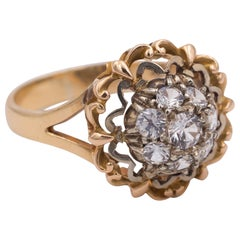 Vintage Gold and Cubic Zirconia Ring