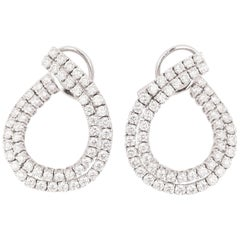 Vintage Gold and Diamonds French Cocktail Pendants Earrings