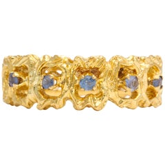 Vintage Gold and Sapphire Band Ring