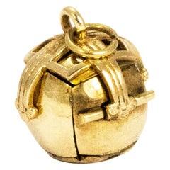 Vintage Gold and Silver Gilt Masonic Orb Pendant