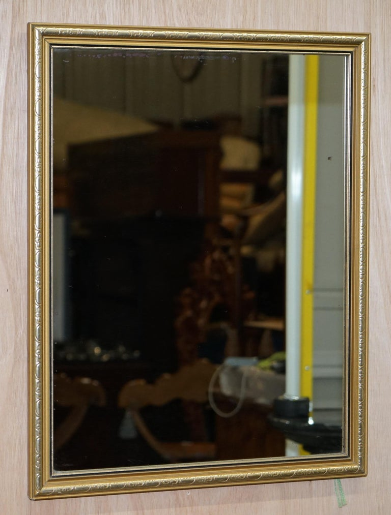 We are delighted to offer for sale this lovely vintage gold and silver leaf framed rectangle mirror