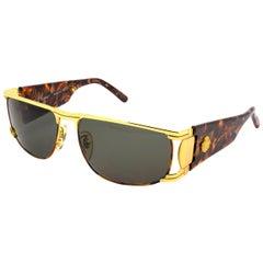 Vintage gold aviator sunglasses by Egon von Furstenberg, Italy 1980s