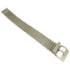Vintage Gold Belt Bracelet with Mesh Design and Buckle Fastener Hallmarked 1979