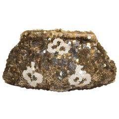 Vintage Gold , Bronze and Cream Sequin Purse