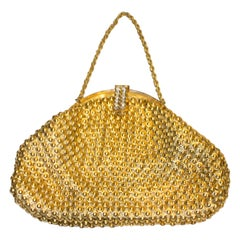 Vintage Gold Chain Link Bag