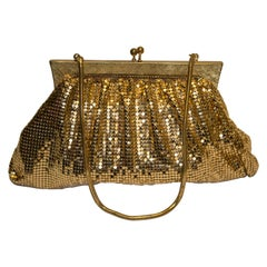 Vintage Gold Chain Mail Evening Bag