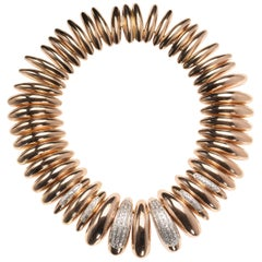 Vintage Gold Diamond Collar Necklace