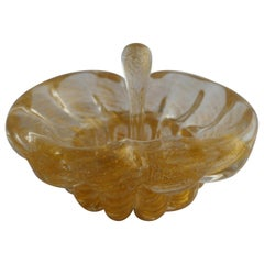 Vintage Gold Dust Archimede Seguso Murano Ashtray or Bowlwith Pestle