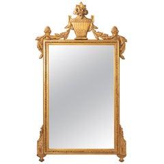 Vintage Gold Gilded Rectangular Carved Mirror